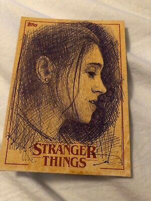 Sketch Card Nancy 2018 Topps STRANGER THINGS A Fry Unique!
