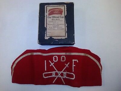 Vintage IOOF Odd Fellows official cap
