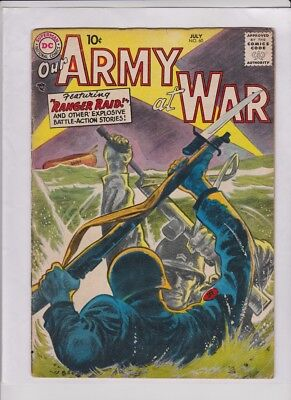 OUR ARMY AT WAR #60 Fine, Grandenetti washtone cvr &art, Russ Heath art, solid