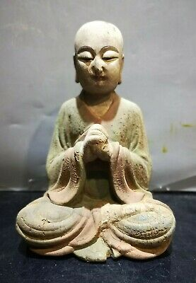 Very Fine Old Chinese Hand Carving Wooden Buddha Statue Sculpture