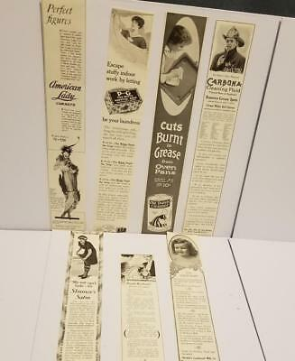 7 lg ads antique Ladies Magazine advertising lot vintage paper clippings 1914 Pp
