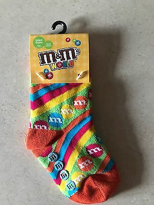 m&m's socks - size: 12-24 months