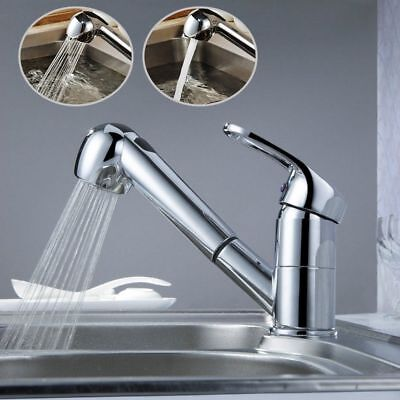 Pull Out Kitchen Sink Faucet Single Handle with Pull Down Sprayer Dual Function