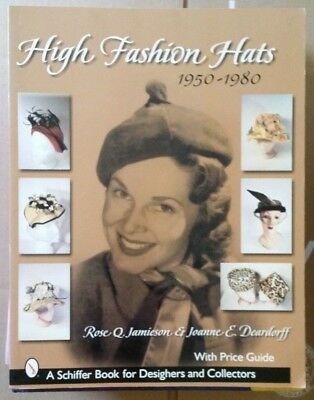 High Fashion Womens Hat Value Guide Collector's Book 1950-1980