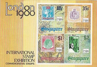 """Singapore, 1980, """"london Stamp Exhibition""""  S/s, Mint Nh Fresh Good Condition"""