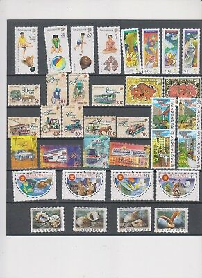 """Singapore, 1997, """"full Year Album"""" 4 S/s And 8 Stamp Sets. Mint Nh. Fresh"""