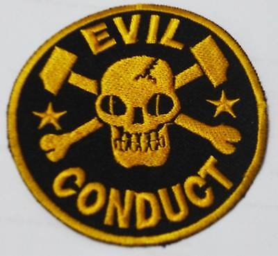 EVIL CONDUCT embroidered patch Booze & Glory The Oppressed Hard Skin The Busines
