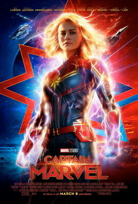 "008 Captain Marvel - 2019 Superheroes Fihgt Movie 24""x35"" Poster"