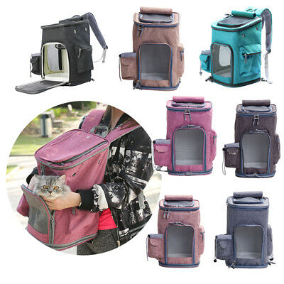 Pet Carrier Breathable Carry Cat Dog Puppy Shoulder Backpack Travel Portable Bag