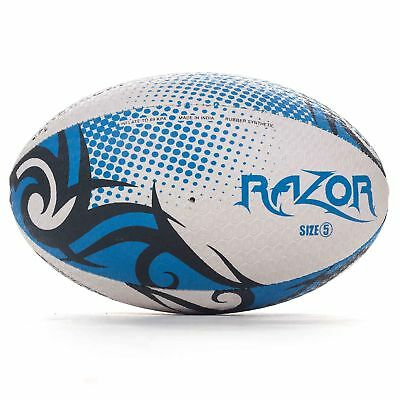 Optimum Rasoio Rugby League Union Palla Nero/Blu/Bianco