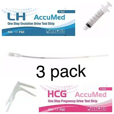 Sterile At home Insemination Kits(x3) for IUI ICI