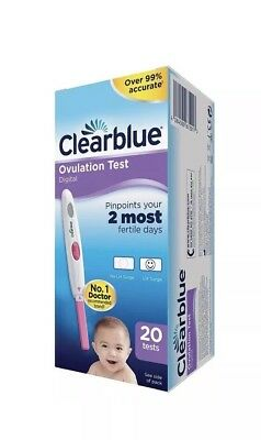 Clearblue Digital Ovulation LH Surge Fertility Test 20 Pack New & Sealed