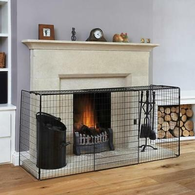 Electric Fireplace Safe Net Fireguard Fire Guard Safety Gate 1.6M Child Kid Gas