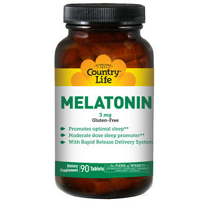 Melatonina (Rapido Rilascio) 90 Compresse 3 Mg da Country Life