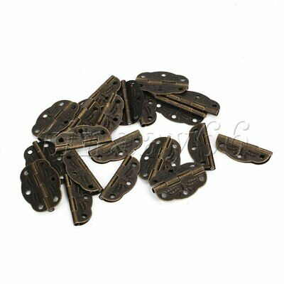 20P Vintage Wooden Furniture Decorative Hinges for Cabinet Drawer Jewelry Box