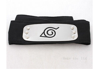 Naruto Shippuden Hidden Leaf Village Black Ninja Cosplay headband A++