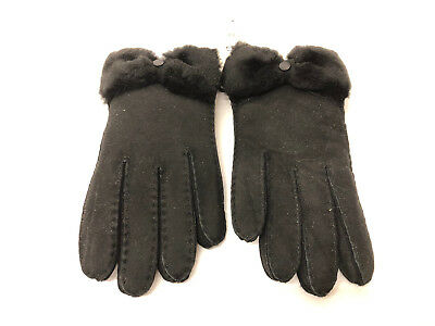 Ugg Classic Bow Shorty Women Gloves Black Size M