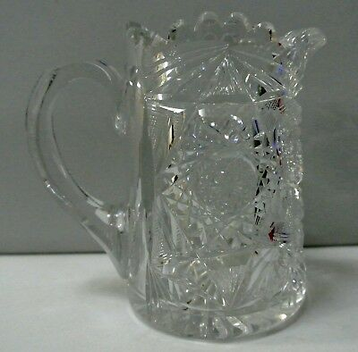 Antique Cut Glass Small Pitcher