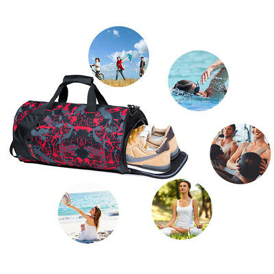 Sports Duffle Bag Canvas Duffel Gym Waterproof Foldable Travel Handbag Storage