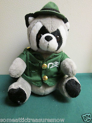 Princess Cruise Ship Beanie Ranger Raccoon Stuffed Animal NO TAG