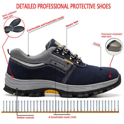 Men's Steel Toe Safety Boots Indestructible Military Protection Work Hiking Shoe