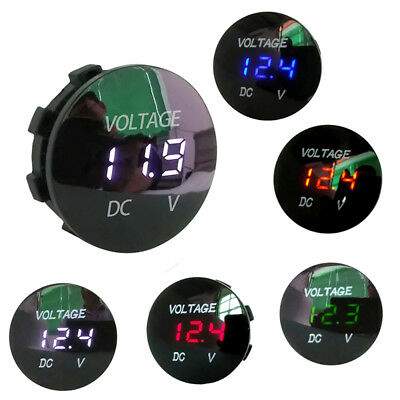 5-48V Voltage Meter Car Marine Motorcycle LED Digital Voltmeter Battery Gauge
