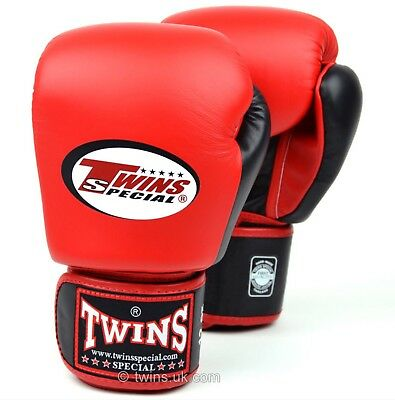 Twins Special Bgvl-3T Red/Blk 14oz Muay Thai/ Boxing Gloves