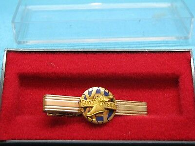 GOOD YEAR TYRES Gold Plated & Enamal 15 Year Service TIE PIN BADGE