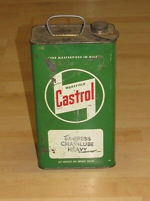 Vintage Castrol Oil One Imperial Gallon Can Canada Ex-Press Chain Lube Heavy