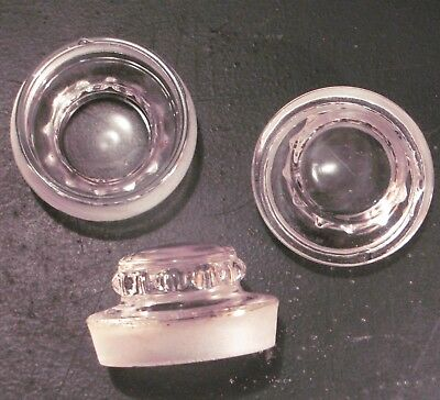 Antique Apothecary Candy Jar Lids Stoppers x3 Glass