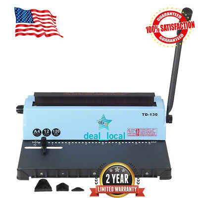 Spiral Coil Calendar Binding Machine 34 Hole Punching Binding Machine