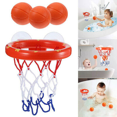 1 Set Bath Toy Basketball Hoop Suction Cup Mini Gift for Baby Kids Bathroom