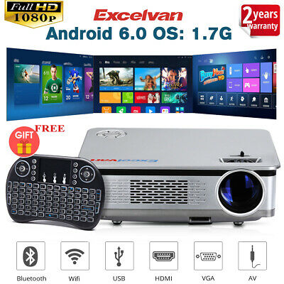 "Excelvan WiFi Mini 5.8""Proyector Android6.0 1080P HD Home Cinema Video Proyector"