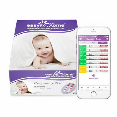 Easy@Home 40 Pregnancy Urine Test Strips, Early Accurate Detection ,FDA Standard