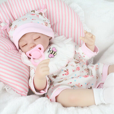 "17"" Reborn Baby Dolls Lifelike Newborn Artist Handmade Sleeping Girl Doll Gifts"