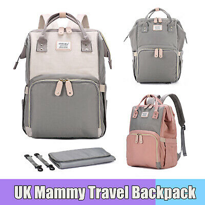 Nappy Mommy Mummy Changing Maternity Baby Bag Backpack Diaper Multifunctional UK
