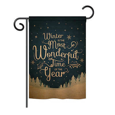 Winter is Most Wonderful Time - Impressions Decorative Garden Flag - G191086-P3