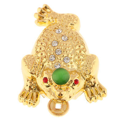 Feng Shui Money LUCKY Fortune Wealth Oriental Chinese Toad Coin Home Decor M