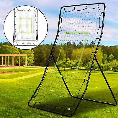 "35*49"" Rebounder Net Soccer Baseball Football Adjust Pitch Back Training Screen"
