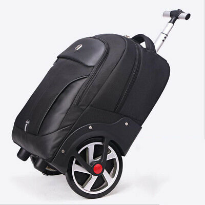 "18""/20"" Business Wheeled Trolley Backpack Rolling Carry on Luggage Travel Bag"