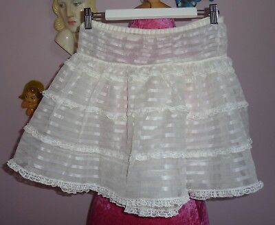 Vintage 1950s 60s Girls Tiered Petticoat ~St. Michael~ Age 7