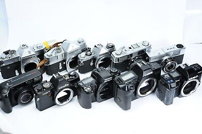 Canon Minolta Pentax Olympus Yashica Vivitar, Big Lot + more, for Parts/AS-IS