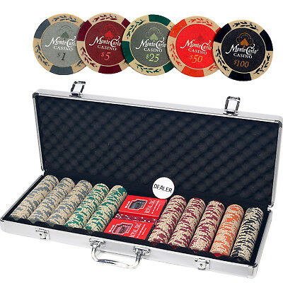 ALPS Monte Carlo Casino 500pcs Poker Set with Aluminum Case / 13.5 Gram Chips