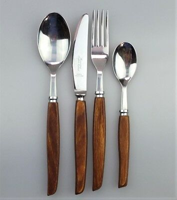 "Vintage 24 Piece ""Homewood"" Sheffield England Firth Stainless Cutlery Set"