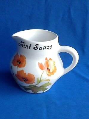 Brixham Pottery Devon Hand Painted Mint Sauce Table Jug