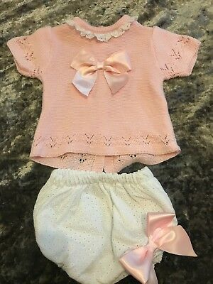 Spanish Style Knitted Romper Set 0-3 Months