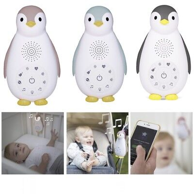 ZAZU ZOE PENGUIN Portable Night Light + Soothing Sounds for Baby Toddler