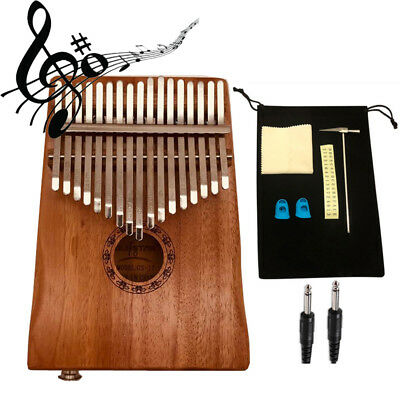 17 Keys Kalimba Thumb Piano Mbira Solid Wood Keyboard Xmas Gift Toy w/ Bag Set