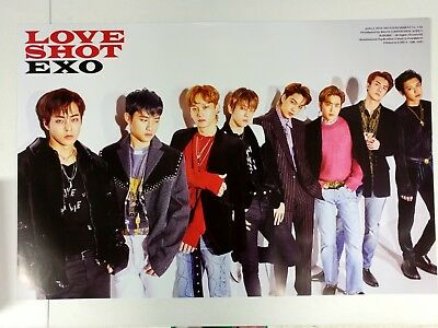 Exo - Love Shot (Repackage) Official Unfolded Poster Hard Tube Case New