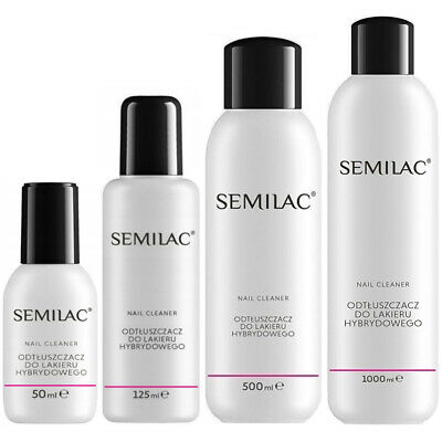 Semilac Nail Cleaner Hybrid Manicure UV Gel Polish Soak Off 50ml 125ml 500ml